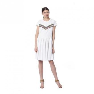 Silvian Heach Milk Dress Sukienki Biały Dorośli Kobiety Rozmiar: S