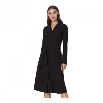 Nife Szmizjerka z długim rękawem Sukienki Czarny Dorośli Kobiety
