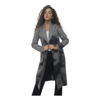 Guess Płaszcz z 2 przyciskami Płaszcze Czarny Dorośli Kobiety Rozmiar: