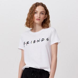 Cropp - Dwuczęściowa piżama Friends - Biały