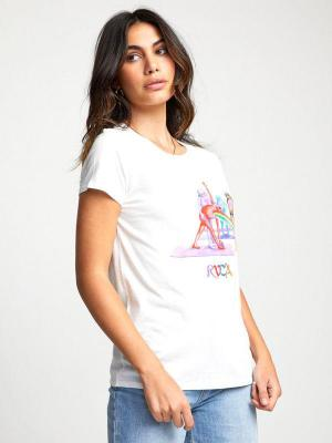 RVCA RAINBOW YOGA Vintage White t-shirt damski - S