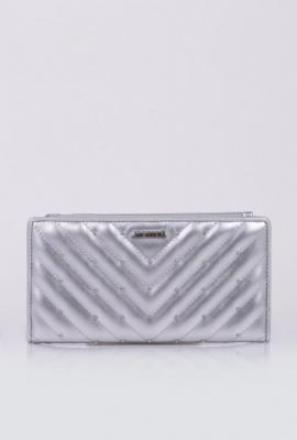 Pikowany portfel z dżetami