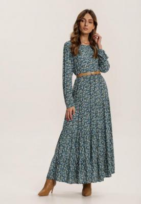 Niebieska Sukienka Daeiphise