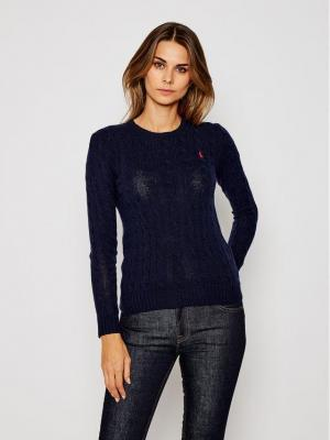 Polo Ralph Lauren Sweter Julianna Wool/Cashmere 211525764008 Granatowy Regular Fit