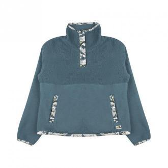 The North Face W Liberty Szerpa 1/4 ZP Swetry i bluzy Niebieski