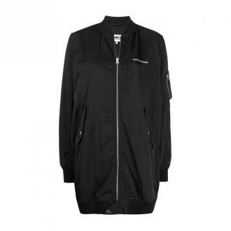 Oversized bomber jacket with logo