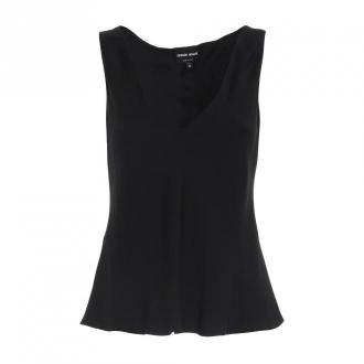 Giorgio Armani Shirt Koszulki i topy Czarny Dorośli Kobiety Rozmiar: