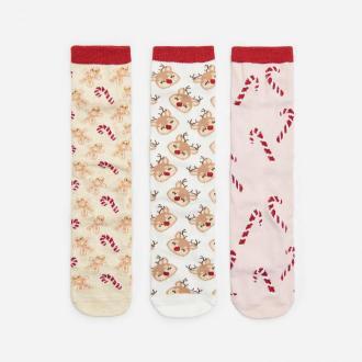 House - Skarpety świąteczne 3-pak - Wielobarwny