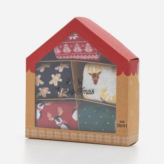 House - Skarpety świąteczne 5-pak - Wielobarwny