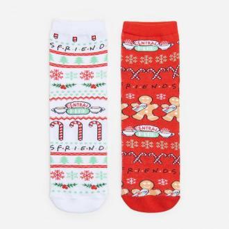 House - Skarpety świąteczne Friends 2-pak - Wielobarwny