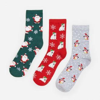 House - Świąteczne skarpety 3-pak - Wielobarwny