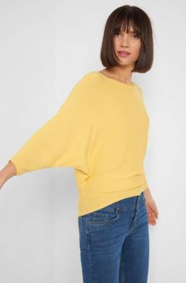 Sweter nietoperz z rękawem ¾