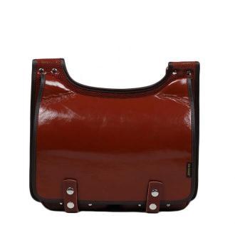 torba skórzana Bookcase na ramię listonoszka brązowa