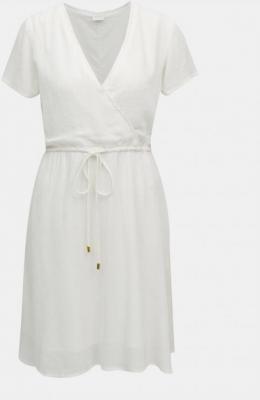 Biała sukienka VILLA - L