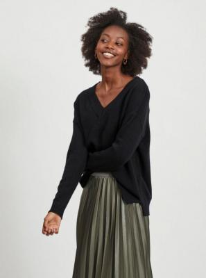 Czarny luźny sweter VILA Ril - XS