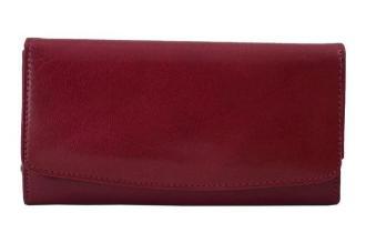Skórzane portfele damskie -  Barberini's - Czerwony