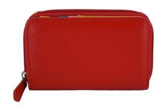 Barberini's - skórzany portfel damski - Czerwony