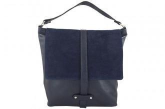 Torby skórzane Shopper bag A4 - Granatowa