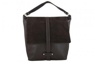 Torby skórzane Shopper bag A4 - Brązowa ciemna