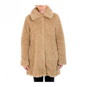 Guess Marina płaszcz Płaszcze Beżowy Dorośli Kobiety Rozmiar: L