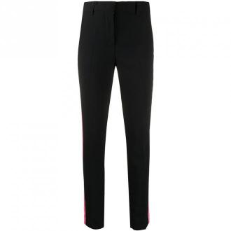 Msgm Skinny pants with side stripes Spodnie Czarny Dorośli Kobiety