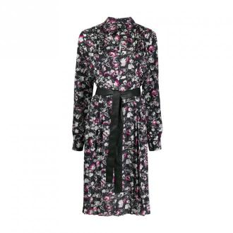 Orchid print dress