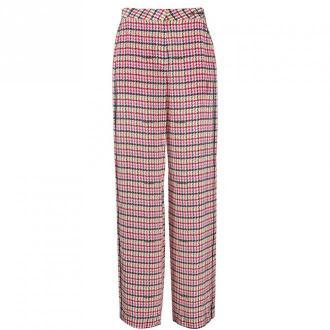 Karl Lagerfeld Kręcone spodnie druku Spodnie Czerwony Dorośli Kobiety