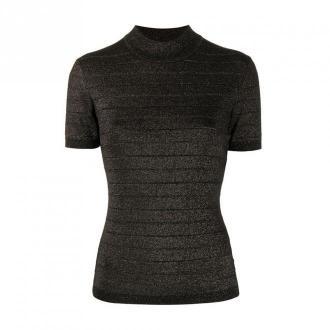 Short sleeve lurex top