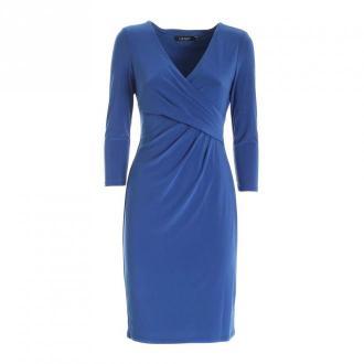 Polo Ralph Lauren Crossed V-Neck Dress Sukienki Niebieski Dorośli