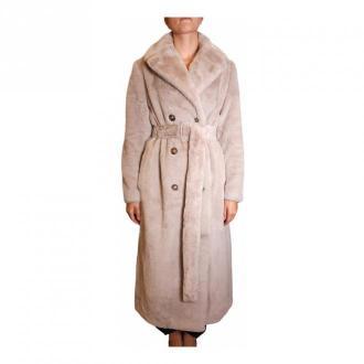 Seventy Long faux fur Bielizna nocna Beżowy Dorośli Kobiety Rozmiar: