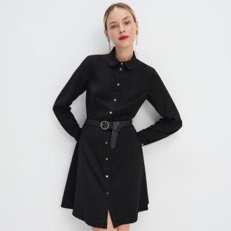 Mohito - Koszulowa sukienka z paskiem - Czarny