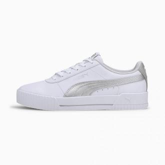 PUMA Damskie Buty Sportowe Carina Meta20, Biały Srebny, rozmiar 35,5, Obuwie
