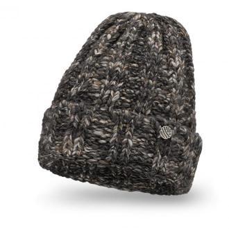 Ciepła czapka damska z wełną o grubym splocie
