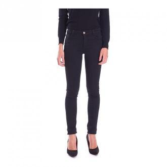 Trussardi Jeans UP Fifteen Jeans With Rhinestones Jeansy Czarny