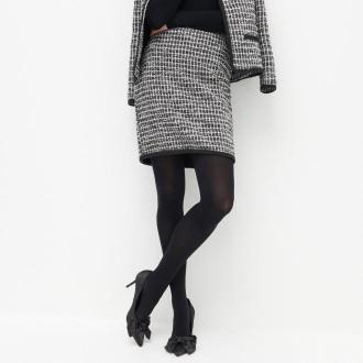 Reserved - Dzianinowa spódnica w kratę - Wielobarwny