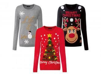 ESMARA® Sweter damski z motywem świątecznym, 1 s