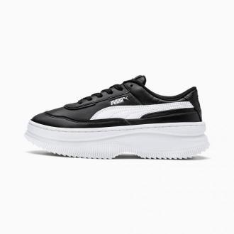 PUMA Skórzana Damskie Buty Sportowe Deva, Czarny Biały, rozmiar 36, Obuwie