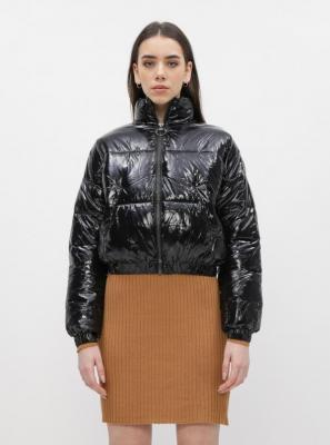 Czarna krótka pikowana kurtka Dorothy Perkins - XL