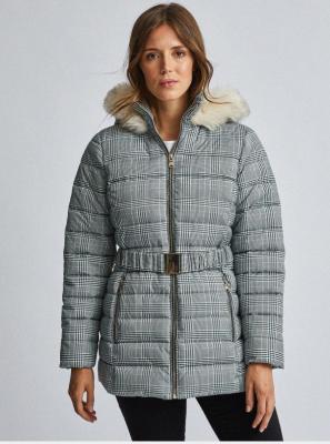 Szara pikowana kurtka zimowa Dorothy Perkins - S