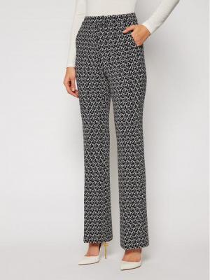 TOMMY HILFIGER Spodnie materiałowe Flare Jacquard WW0WW28806 Kolorowy Slim Fit