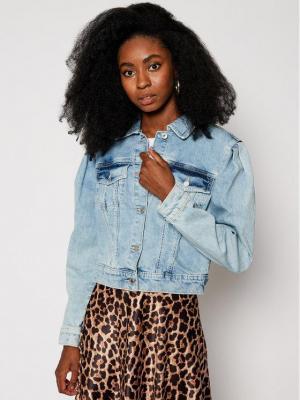 Guess Kurtka jeansowa 80's Teddy W0YN32 D42L1 Niebieski Regular Fit