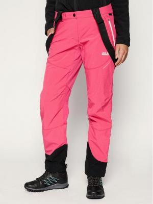 Jack Wolfskin Spodnie narciarskie Gravity Tour 1505121-2054 Różowy Regular Fit