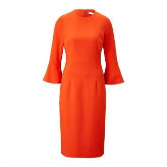 Volant Sleeve Dress Midi