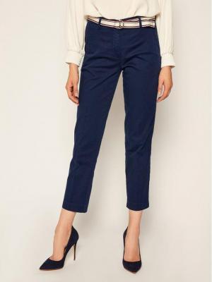 TOMMY HILFIGER Spodnie materiałowe Dobby WW0WW27285 Granatowy Regular Fit