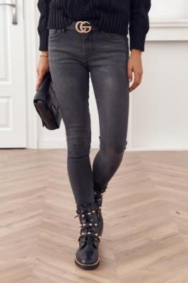 Grafitowe spodnie jeansowe 21150