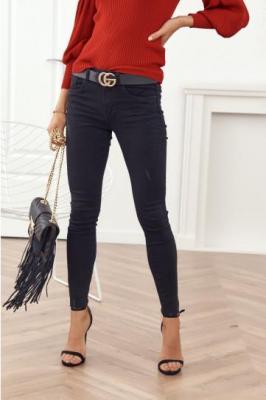 Modne spodnie jeansowe czarne 2528