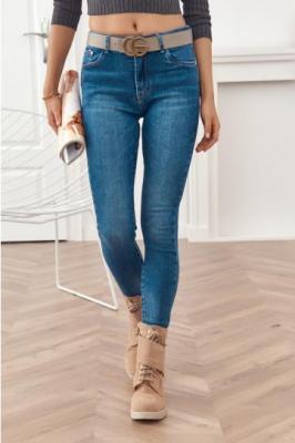 Dopasowane damskie spodnie jeansowe push up 3991