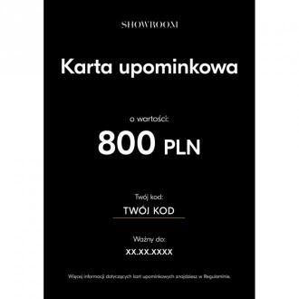 Showroom Elektroniczna karta upominkowa o wartości 800 PLN Akcesoria
