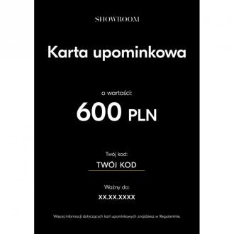 Showroom Elektroniczna karta upominkowa o wartości 600 PLN Akcesoria