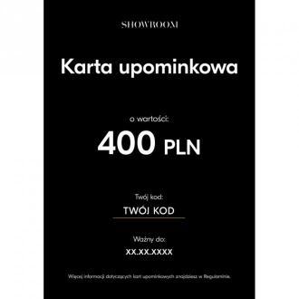 Showroom Elektroniczna karta upominkowa o wartości 400 PLN Akcesoria